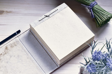 Paper Notepad On Wooden Table