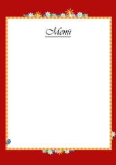 Eine Menüe Karte