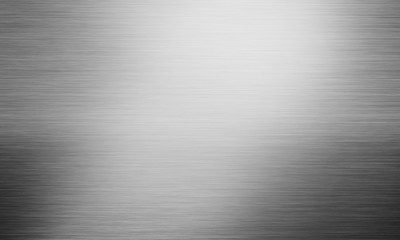 Abstract grey polished metal plate background