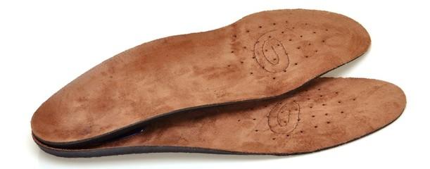 Banner Medizinische Schuheinlagen aus echtem Leder mit Fußbett