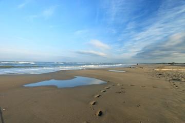 BEACH OF THE TOUQUET, COTE D'OPALE, PAS DE CALAIS, HAUTS DE FRANCE , FRANCE
