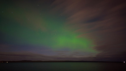 Northern Lights over Petrozavodsk. Karelia