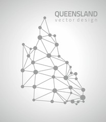 Queensland grey dot polygonal triangle map