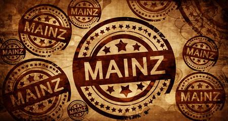 Mainz, vintage stamp on paper background