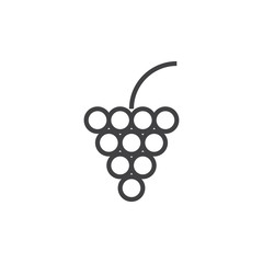 Grape Icon Illustration Isolated Vector Sign