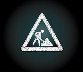 Baustelle design symbol