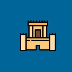 Castle icon flat disign