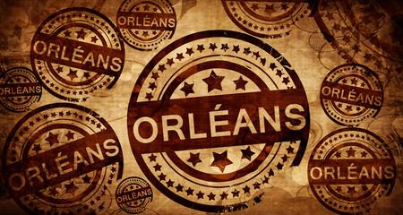 orleans, vintage stamp on paper background