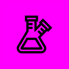 flask icon flat disign