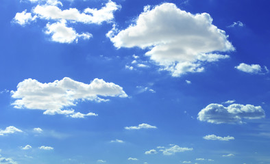 blue sky with cloud closeup.Closeup blue sky and fluffy clouds background