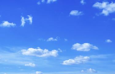 blue sky with cloud closeup.Closeup blue sky and fluffy clouds background