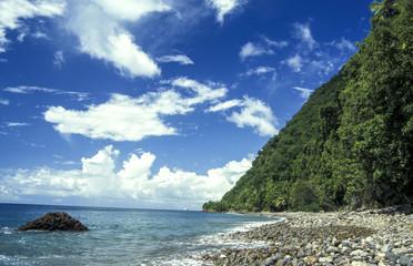 In de dag Fantasie Landschap Champagne beach, Dominica