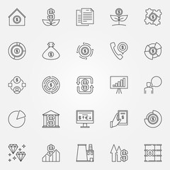 Investment and money icons