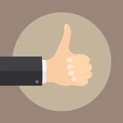 Hand thumb up symbol