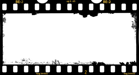 Wall Mural - frame of film, grungy panorama  photo frame, free space for your