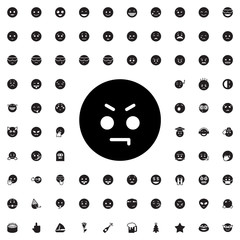 angry emoticon icon illustration