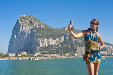 Young, pretty woman in Gibraltar, Gibraltar (model-released)