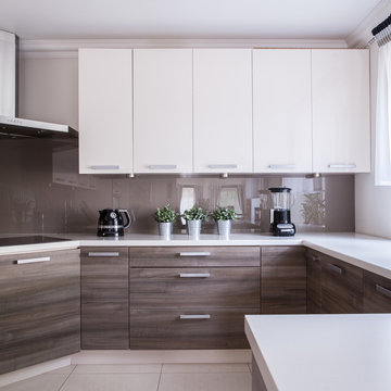 Modern and wooden cabinets