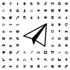 paper airplane icon illustration