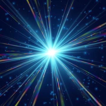 Cosmic radiation Sharp rainbow light