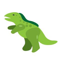 Isolated dinosaur toy on a white background, Vector illustration