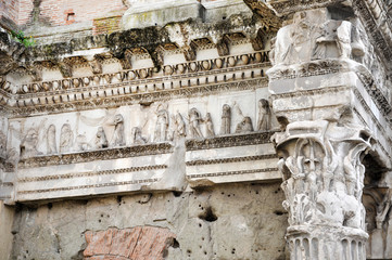 Fototapete - Architectural details of Minerva forum. Rome, Italy