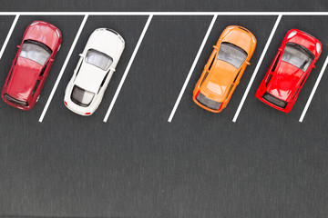 Top view of parking lane Wall mural