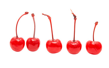 maraschino cherry isolated