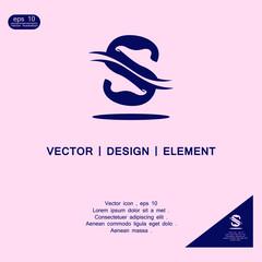 letter S foot logo