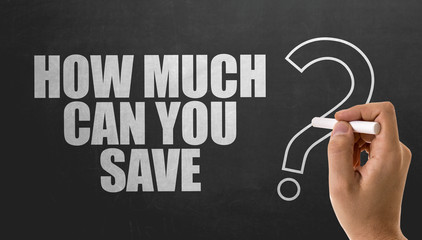 How Much Can You Save? Wall mural