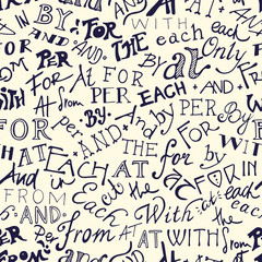 Catchwords seamless pattern