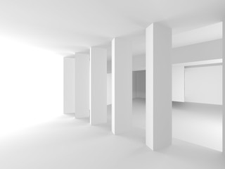 Abstract Modern White Architecture Background