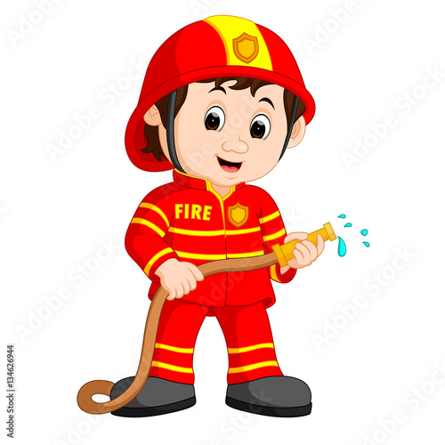 quot cute fireman cartoon quot  stock image and royalty free vector firefighter clipart small pics firefighter clipart black and white