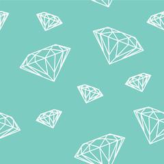 Sfondo continuo di diamanti sullo sfondo blu tiffany
