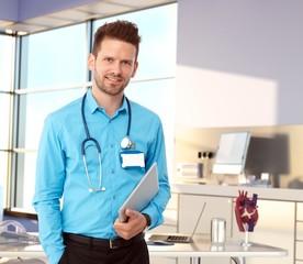 Friendly doctor in modern office