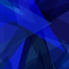 Blue geometric abstract background, banner, poster design template, vector illustration
