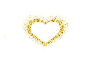 Empty Gold Heart