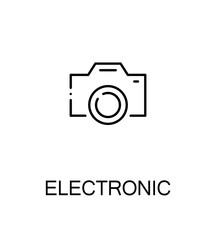 Electronic flat icon