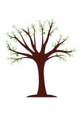 L'arbre aux bulles vertes