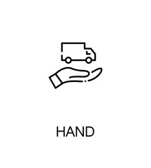Hand with truck