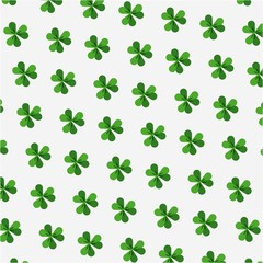 clovers background. saint patrick's day concept. colorful design. vector illustration