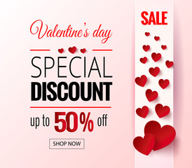 Valentines Day sale flayers.