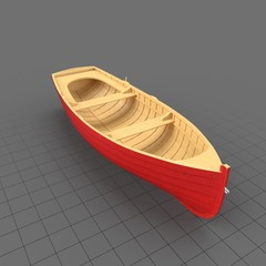 Boat Row Wooden