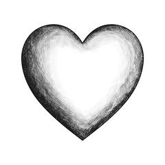 Vector heart hand drawn sketch