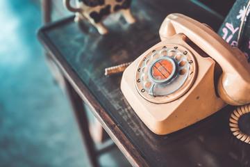 Retro telephone. (vintage style)