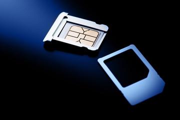 Closeup  sim card for cellphone and smartphone
