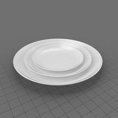 Serving Plates Ceramic Round 01