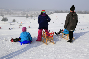 Wintersport: Winterspass auf dem Schlittenberg!