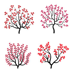 Set of romantic tree