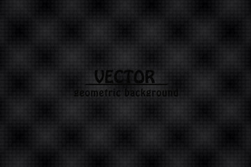 black abstract background. geometric banner.